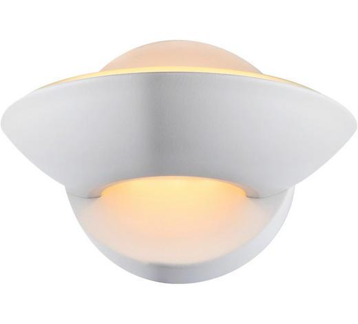 LED-WANDLEUCHTE - Weiß, KONVENTIONELL, Metall (16,5/11cm)