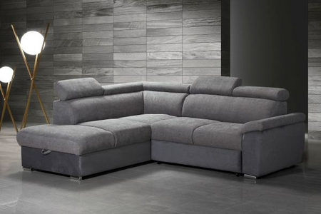 GARNITURA ZA DNEVNU SOBU - Siva, Moderno, Tekstil/Drvo (242/205cm) - Hom`in
