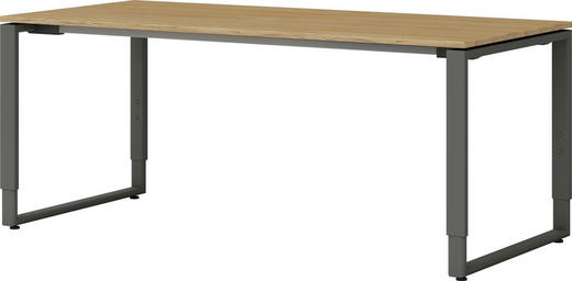 Schreibtisch Eiche Massiv schreibtisch eiche massiv anthrazit, eichefarben online kaufen