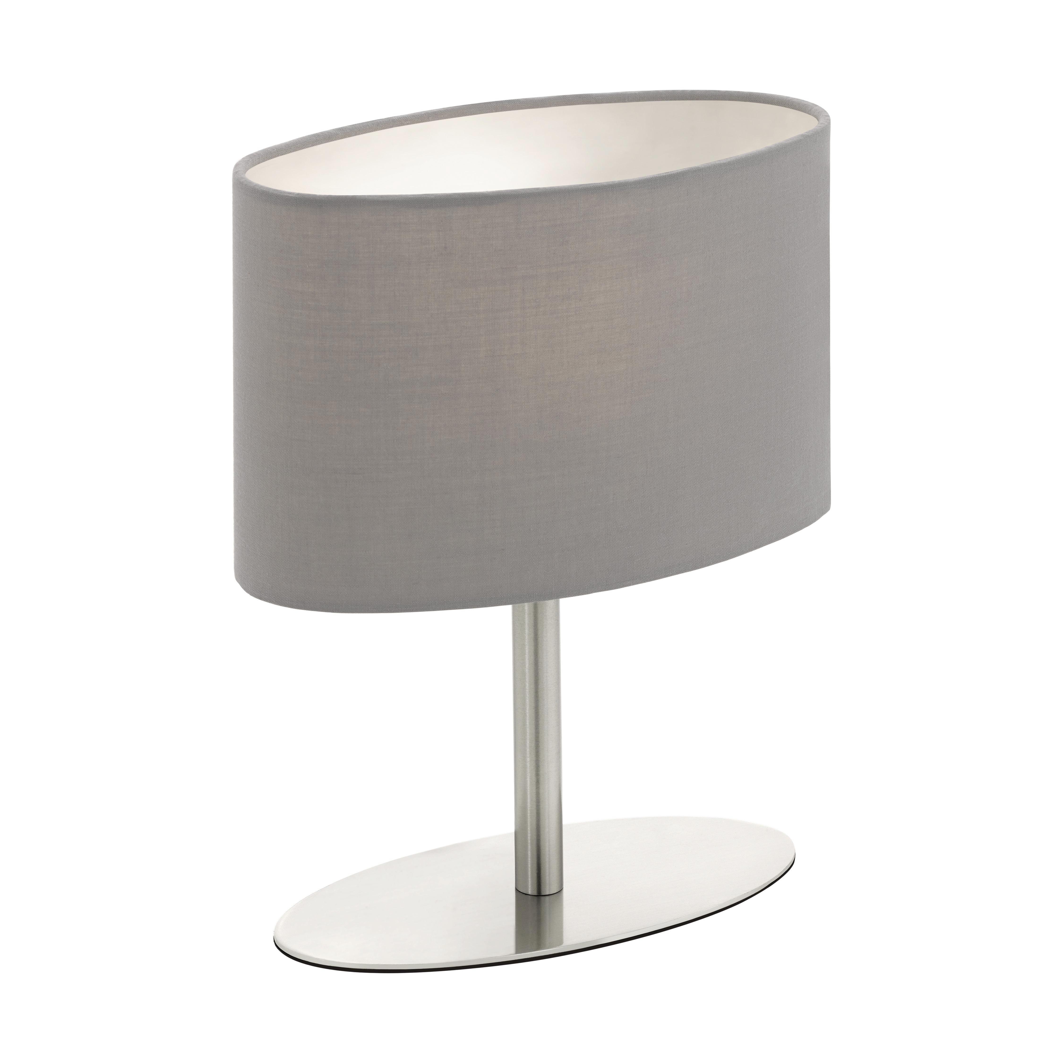 TISCHLEUCHTE - Grau, KONVENTIONELL, Metall (20/10/25cm) - BOXXX