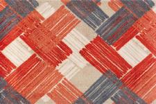 FUßMATTE 50/75 cm Struktur Orange, Rot  - Rot/Orange, Basics, Kunststoff/Textil (50/75cm) - Esposa
