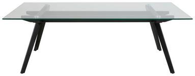 COUCHTISCH in Glas 120/60/40 cm   - Schwarz, Design, Glas/Metall (120/60/40cm) - Carryhome