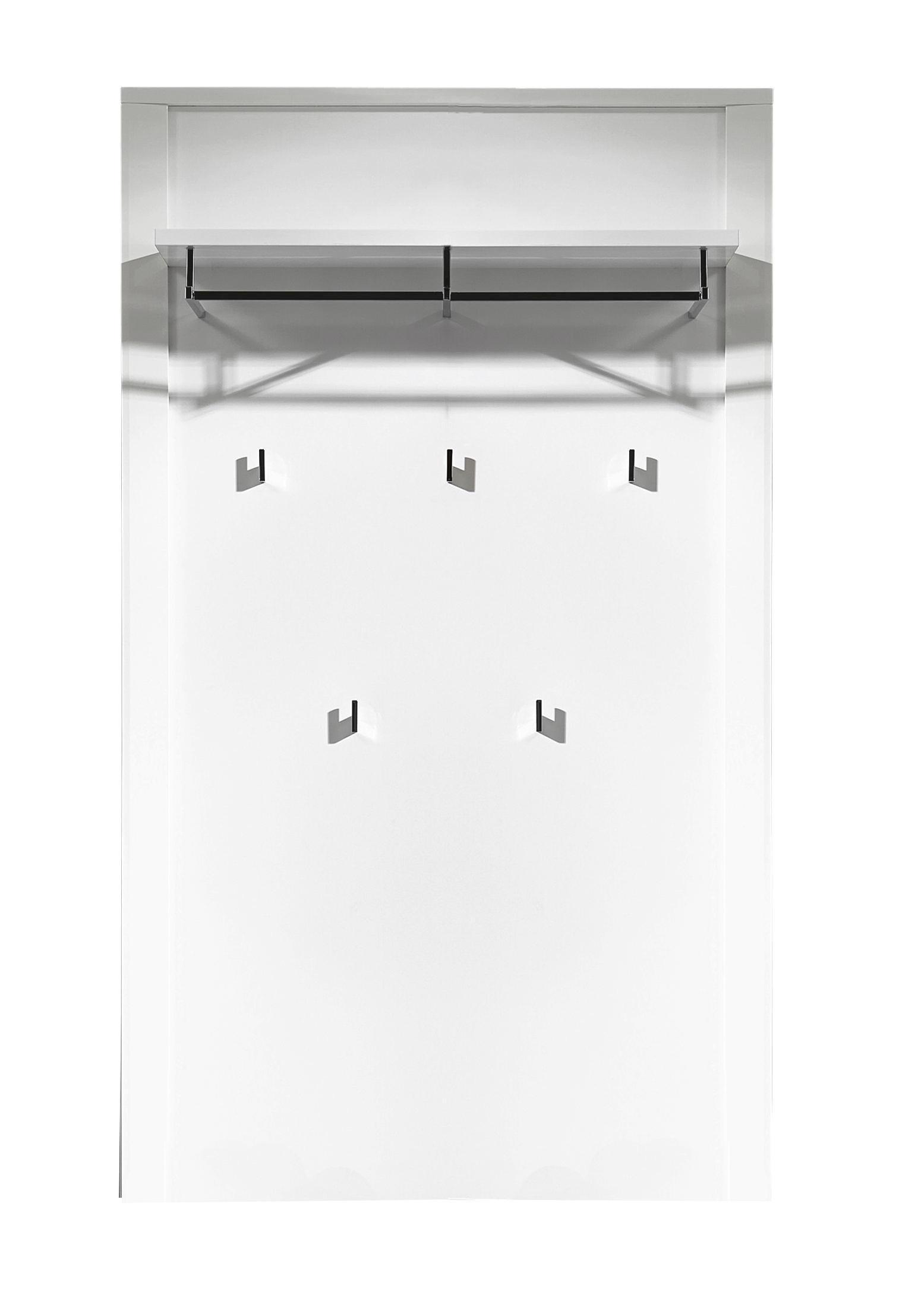 GARDEROBENPANEEL Hochglanz Weiß - Weiß, Basics (90/196/27cm) - CARRYHOME
