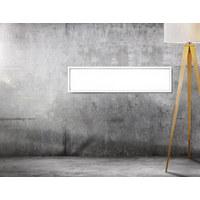 LED-PANEEL - Weiß, Design, Kunststoff/Metall (120/30/4,5cm) - Novel