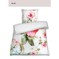 POSTELJINA - roza/bijela, tekstil (200/200cm) - Esposa