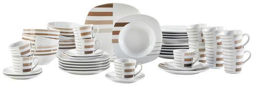 42/1 JEDILNI SERVIS MORENO - bela/rjava, Konvencionalno, keramika - Ritzenhoff Breker