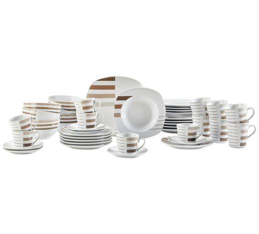 Porzellan  KOMBISERVICE 42-teilig   - Braun/Weiß, Basics, Keramik - Ritzenhoff Breker