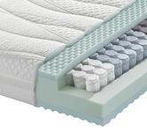 TASCHENFEDERKERNMATRATZE 90/200 cm  - Weiß, Basics, Textil (90/200cm) - Dieter Knoll