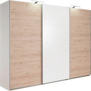 SKŘÍŇ S POSUVNÝMI DVEŘMI, bílá, barvy dubu - bílá/barvy dubu, Design, kompozitní dřevo (270/210/65cm) - Carryhome