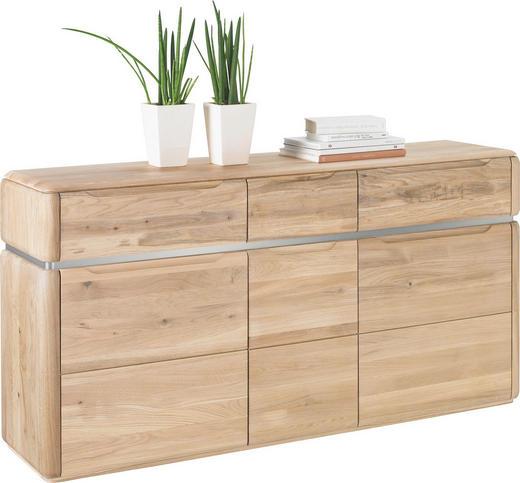 SIDEBOARD Wildeiche massiv Eichefarben - Eichefarben, Design, Holz (161/82/40cm) - VENDA