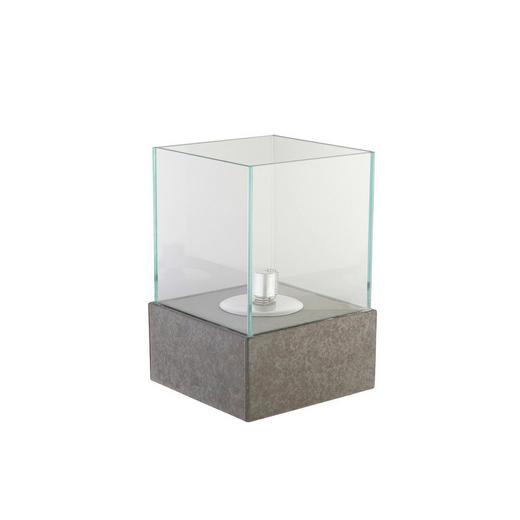 ÖLLAMPE - Grau, Glas/Stein (20/20/30cm)