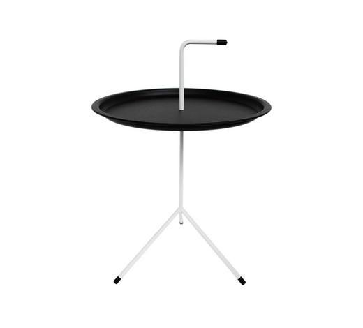 ODKLÁDACÍ STOLEK - bílá/černá, Moderní, kov/umělá hmota (40/58cm) - Carryhome