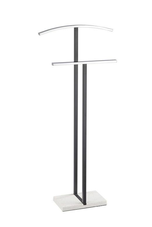 HERRENDIENER Anthrazit, Chromfarben, Grau - Chromfarben/Anthrazit, Basics, Stein/Metall (46/113,5/18cm) - Xora