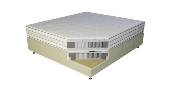 BOXSPRINGBETT 180/200 cm  in Dunkelgrau  - Dunkelgrau/Alufarben, KONVENTIONELL, Textil/Metall (180/200cm) - Dieter Knoll