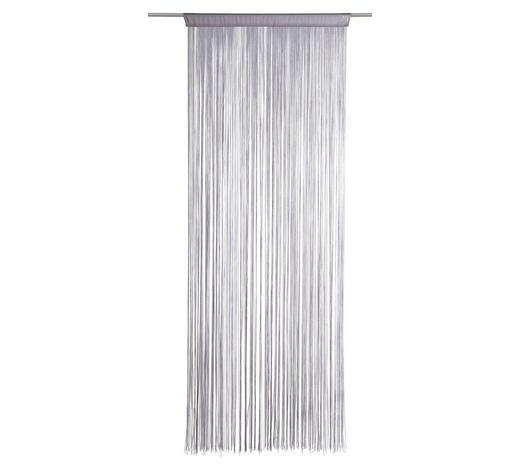 PROVÁZKOVÝ ZÁVĚS, 90/245 cm, barvy stříbra - barvy stříbra, Basics, textil (90/245cm) - Boxxx