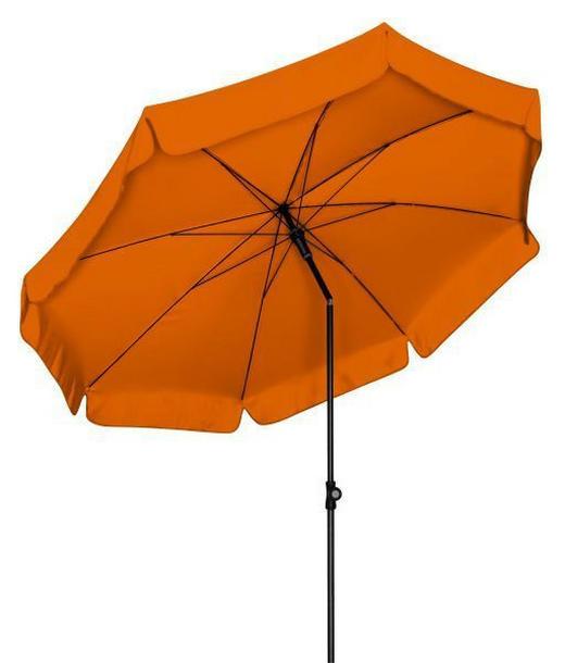 SONNENSCHIRM 200 cm Braun, Orange - Anthrazit/Braun, KONVENTIONELL, Textil/Metall (200cm)