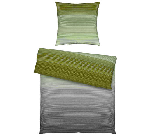 BETTWÄSCHE Satin Grün 135/200 cm  - Grün, KONVENTIONELL, Textil (135/200cm) - Novel