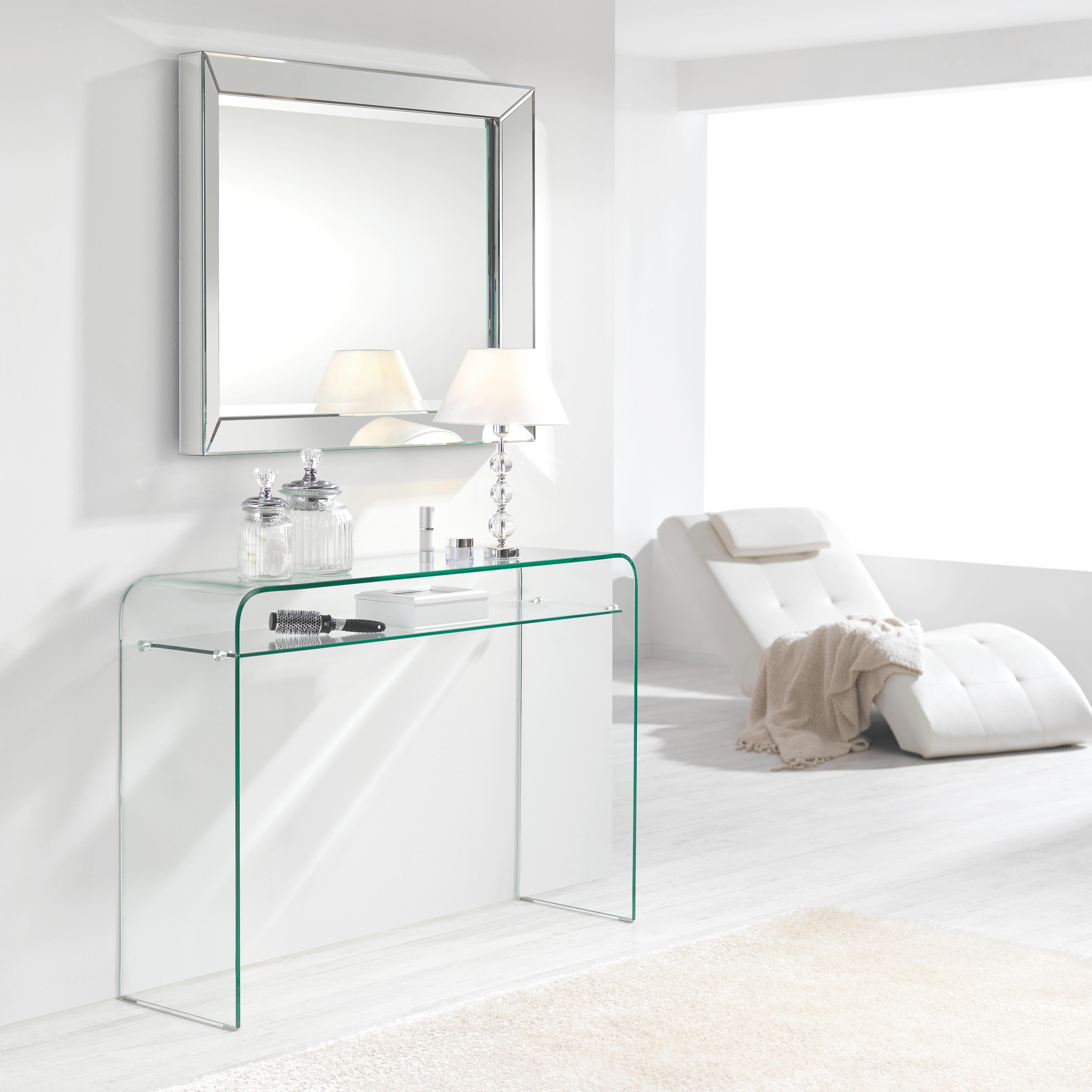 KONSOLE in Transparent - Transparent, Design, Glas (120/85/35cm)