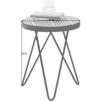 BEISTELLTISCH in Holzwerkstoff, Metall 40/40/50 cm - Schwarz/Weiß, Trend, Holzwerkstoff/Metall (40/40/50cm) - Ambia Home