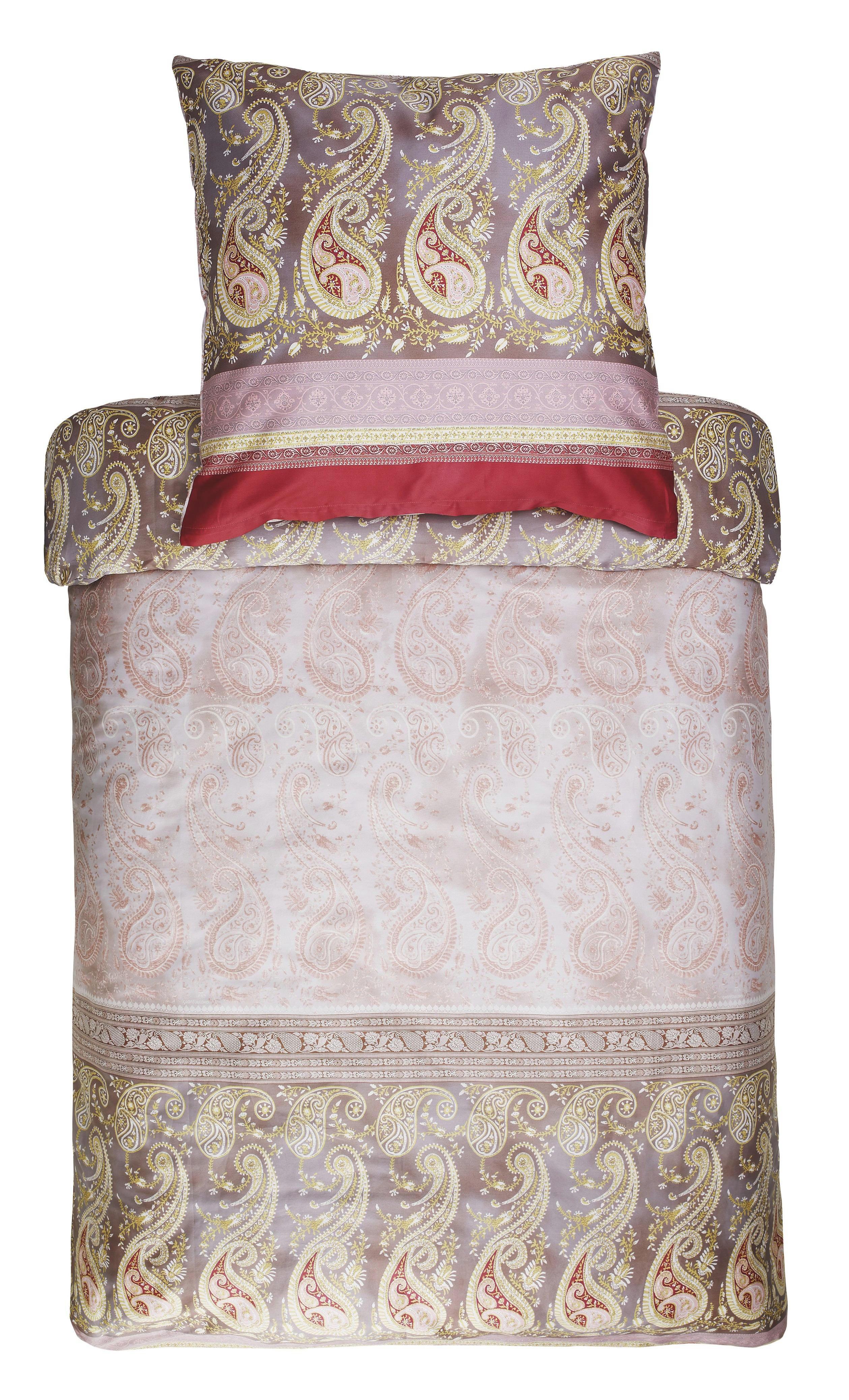 BETTWÄSCHE Beige - Beige, LIFESTYLE, Textil (155/220cm) - BASSETTI