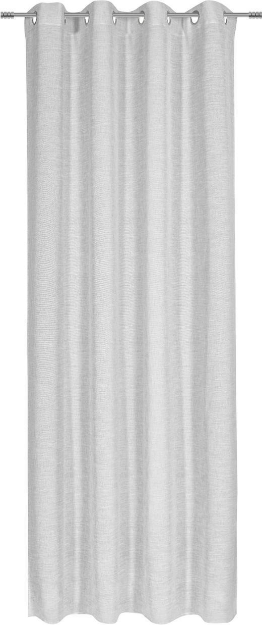 ÖSENSCHAL  halbtransparent  140/245 cm - Grau, KONVENTIONELL, Textil (140/245cm) - Esposa