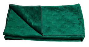 SÄNGÖVERKAST - mörkgrön, Design, textil (180/270cm)