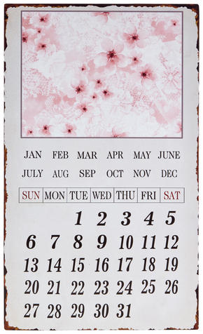 KALENDER - multicolor, Trend, metall (30/50cm) - Ambia Home