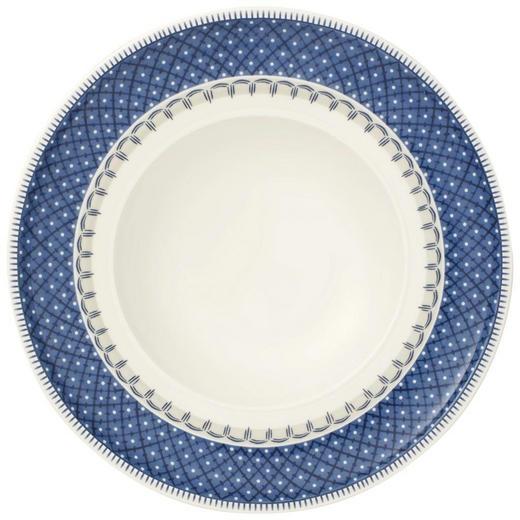 SUPPENTELLER Fine China - Blau/Creme, Basics (25cm) - Villeroy & Boch