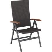 GARTENKLAPPSESSEL - Dunkelbraun/Braun, Design, Holz/Kunststoff (68,1/107,2/59,5cm) - AMBIA GARDEN