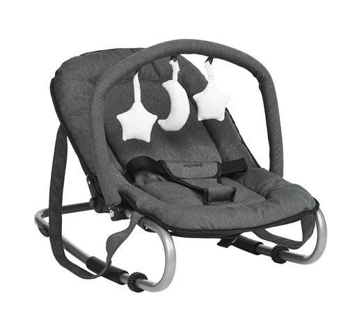 SCHAUKELWIPPE Muffin - Silberfarben/Grau, KONVENTIONELL, Kunststoff/Textil (67/49/52cm) - My Baby Lou