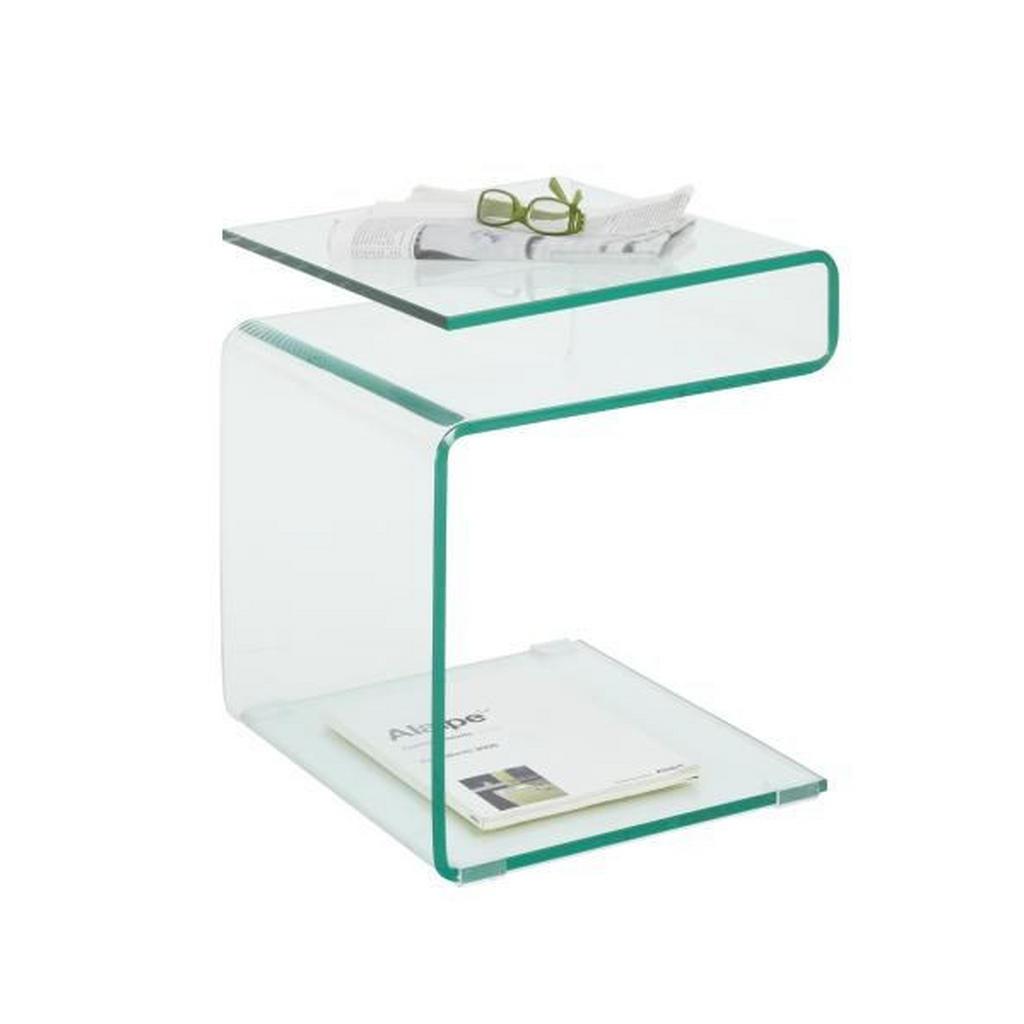 Extravaganter Beistelltisch aus Klarglas