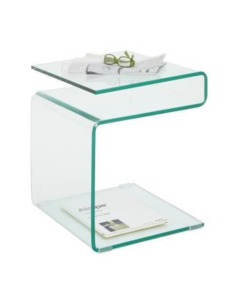 BEISTELLTISCH quadratisch Transparent - Transparent, Design, Glas (40/48/40cm) - Boxxx