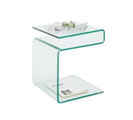 ODKLÁDACÍ STOLEK, sklo, průhledné - průhledné, Design, sklo (40/48/40cm)