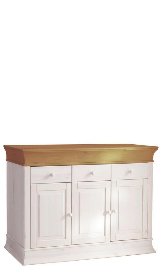 ANRICHTE Kiefer massiv antik, lackiert - Weiß/Kieferfarben, Design, Holz (140/90/43cm) - Carryhome