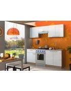 KUHINJSKI BLOK - bela/hrast sonoma, Design, leseni material (200/210/60cm) - Boxxx