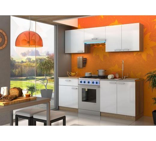 KUHINJSKI BLOK - bijela/hrast Sonoma, Design, drvni materijal (200/210/60cm) - Boxxx
