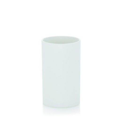 ZAHNPUTZBECHER - Weiß, Basics, Kunststoff (6,5/11,5cm)