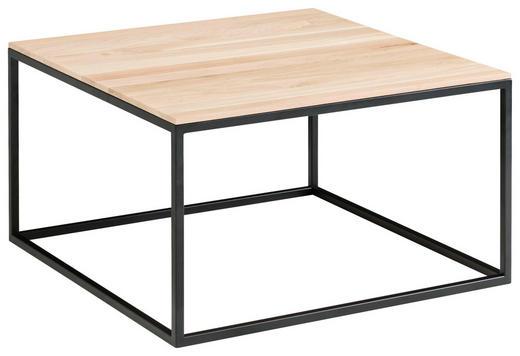 COUCHTISCH in Holz 65/65/37 cm - Eichefarben/Schwarz, Design, Holz/Metall (65/65/37cm) - Novel
