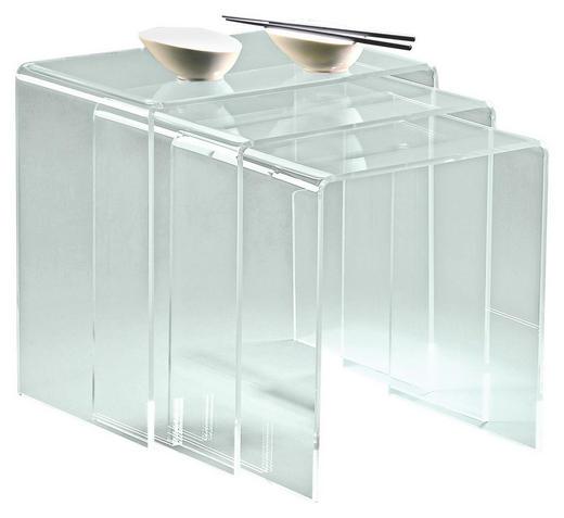 SATZTISCH Klar - Klar, Design, Kunststoff (34/39/44/38/40/42/29.5cm)