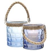 TEELICHTGLAS - Blau, LIFESTYLE, Glas (9/9/11cm)