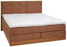 BOXSPRINGBETT 180 cm   x 200 cm   in Holz, Textil Eichefarben, Hellbraun - Hellbraun/Eichefarben, Natur, Holz/Textil (180/200cm) - Valnatura
