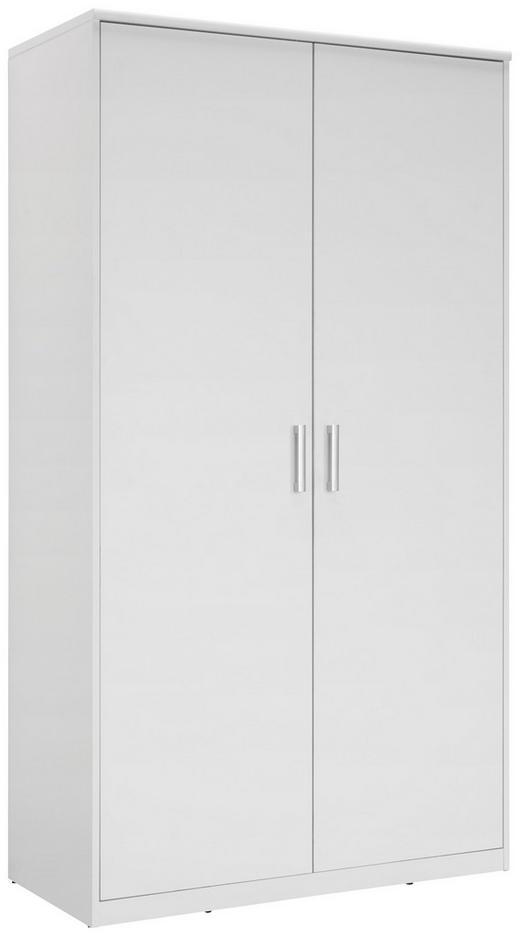 KLEIDERSCHRANK in Weiß - Silberfarben/Weiß, KONVENTIONELL, Holzwerkstoff/Kunststoff (106/194/54cm) - Xora