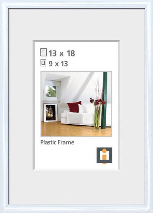 BILDERRAHMEN  Weiß - Weiß, Basics, Glas/Kunststoff (14/19cm)