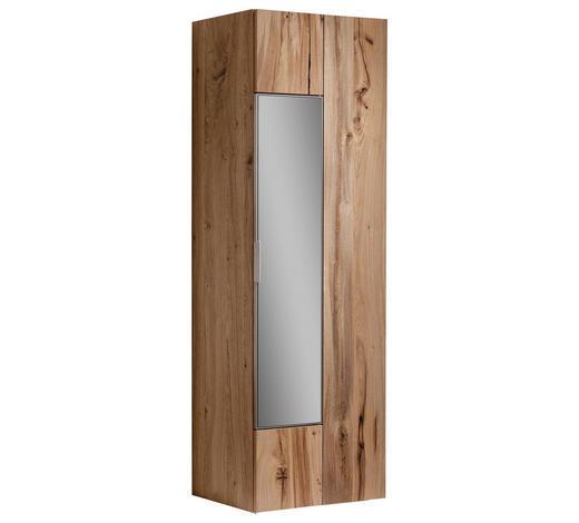 GARDEROBENSCHRANK 64/194/42,5 cm  - Eichefarben/Silberfarben, Natur, Glas/Holz (64/194/42,5cm) - Voglauer