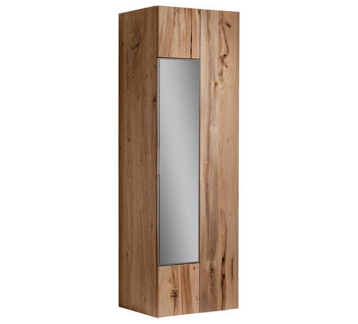 ŠATNÍ SKŘÍŇ, barvy dubu, starodřevo, dub - barvy stříbra/barvy dubu, Natur, kov/dřevo (64/194/42,5cm) - Voglauer