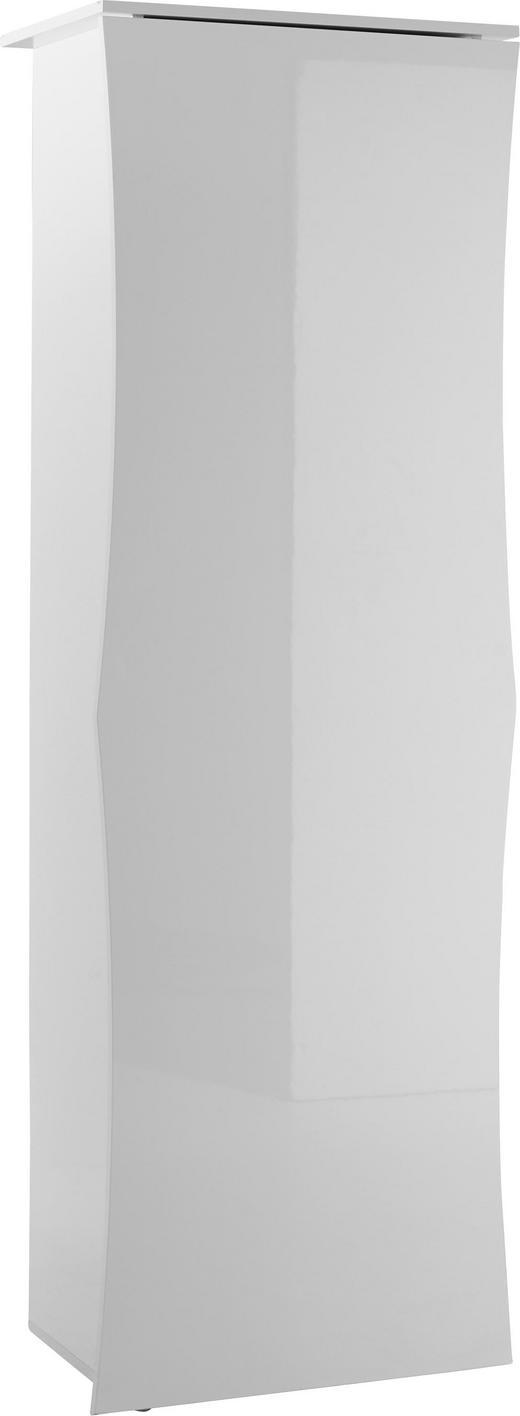 GARDEROBENSCHRANK Hochglanz, lackiert Weiß - Weiß, Design, Holzwerkstoff (65/190/40cm) - Voleo