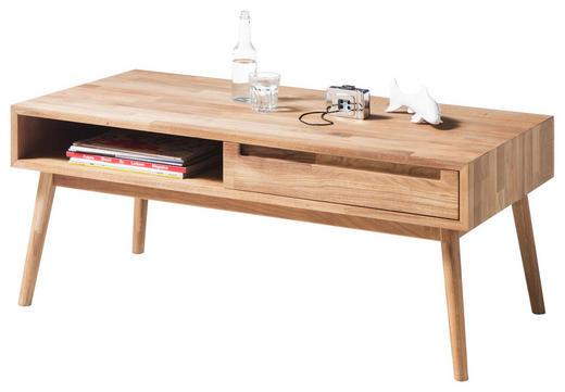 COUCHTISCH Eiche massiv rechteckig Eichefarben - Eichefarben, Design, Holz (110/60/45cm) - Carryhome