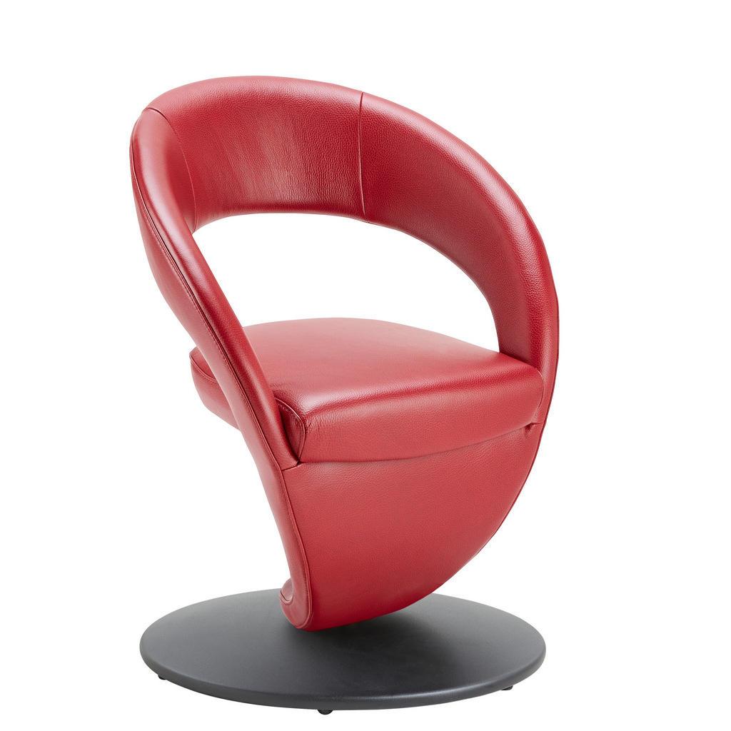 Moderano Stuhl echtleder rot