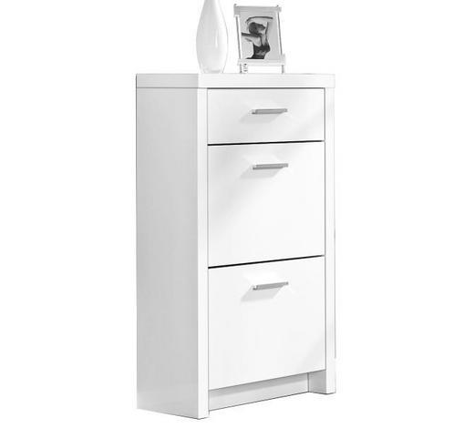 ORMARIĆ ZA OBUĆU - bijela/boje kroma, Design, drvni materijal/plastika (64/108/28cm) - Xora
