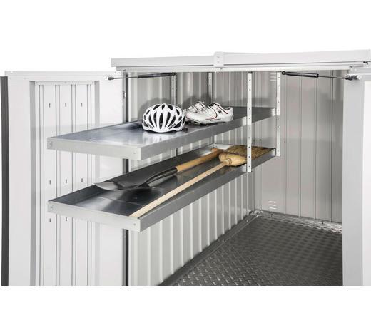 REGALSYSTEM 150/5/43 cm  - Silberfarben, Design, Metall (150/5/43cm) - Biohort